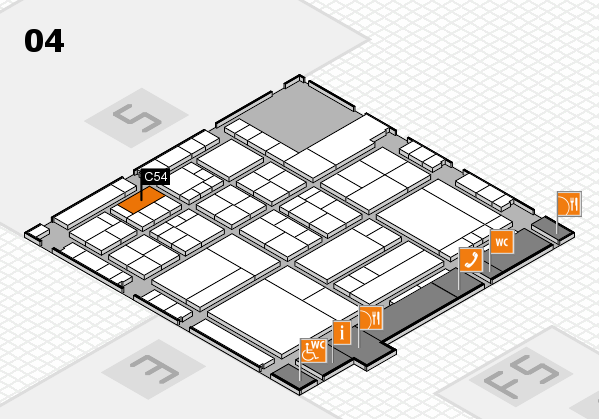interpack 2017 hall map (Hall 4): stand C54