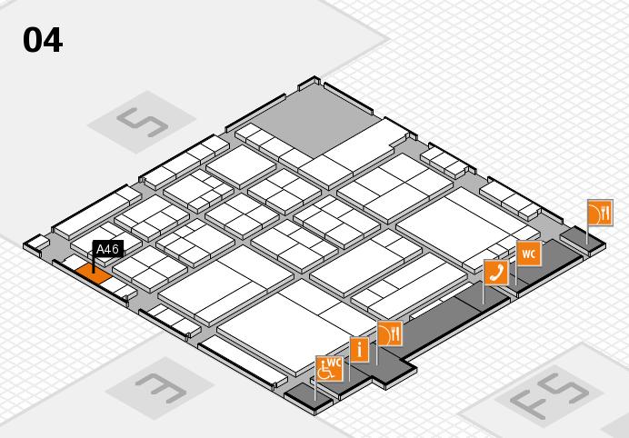 interpack 2017 Hallenplan (Halle 4): Stand A46