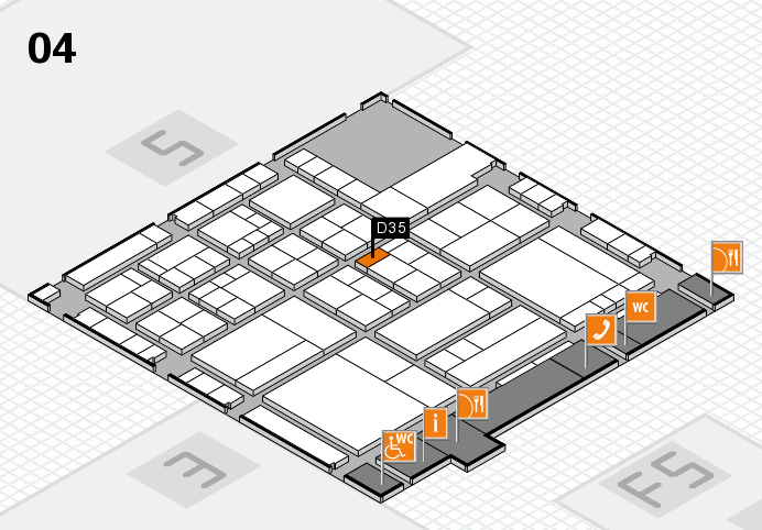 interpack 2017 Hallenplan (Halle 4): Stand D35
