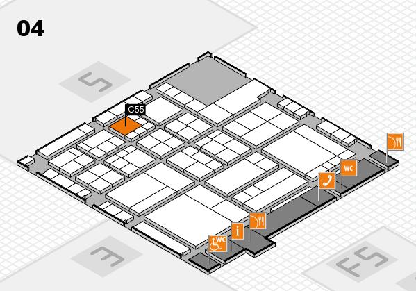 interpack 2017 Hallenplan (Halle 4): Stand C55