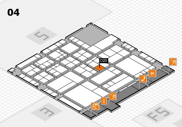 interpack 2017 Hallenplan (Halle 4): Stand D25