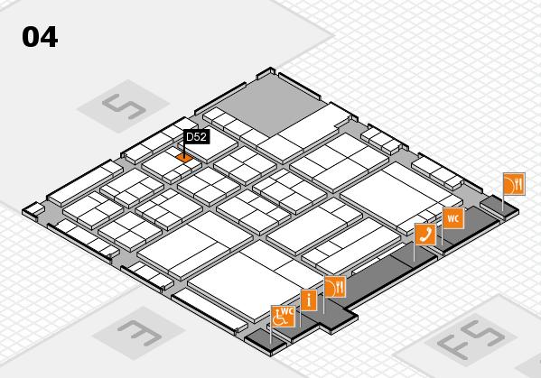 interpack 2017 Hallenplan (Halle 4): Stand D52