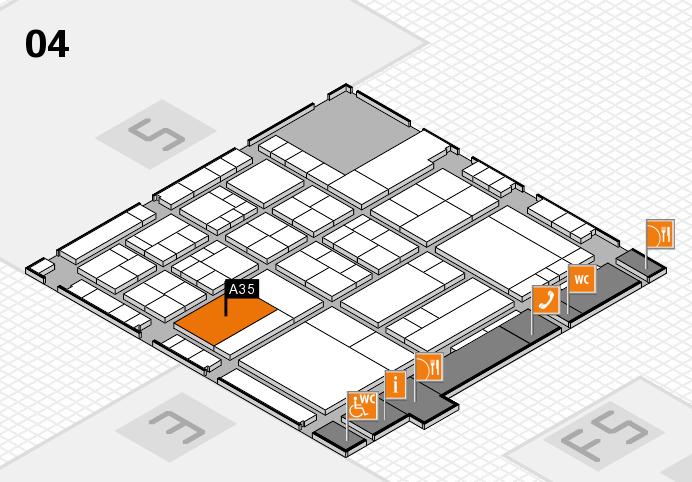 interpack 2017 Hallenplan (Halle 4): Stand A35