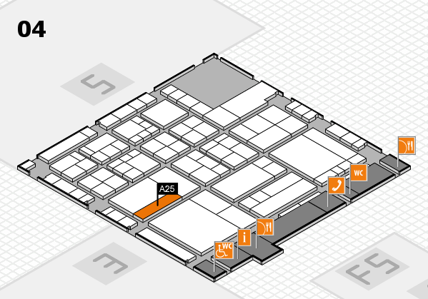 interpack 2017 hall map (Hall 4): stand A25