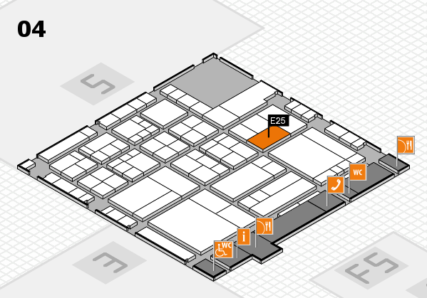 interpack 2017 hall map (Hall 4): stand E25