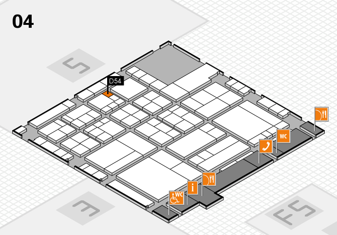interpack 2017 hall map (Hall 4): stand D54