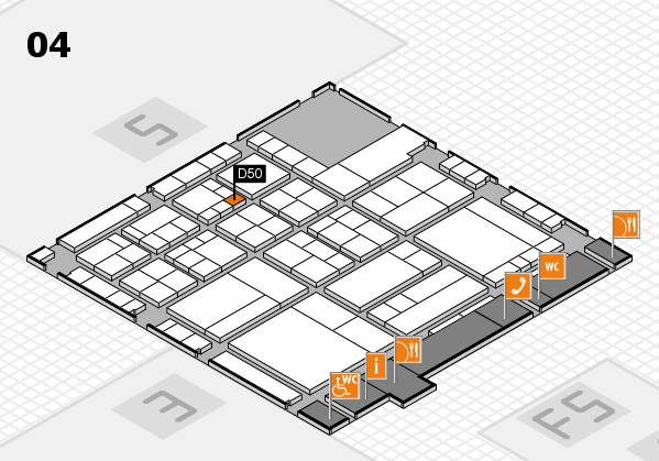 interpack 2017 Hallenplan (Halle 4): Stand D50