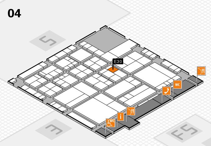interpack 2017 Hallenplan (Halle 4): Stand E30