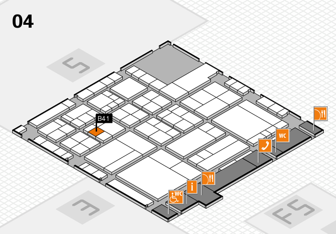 interpack 2017 hall map (Hall 4): stand B41