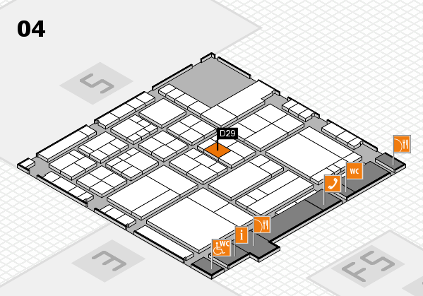interpack 2017 Hallenplan (Halle 4): Stand D29