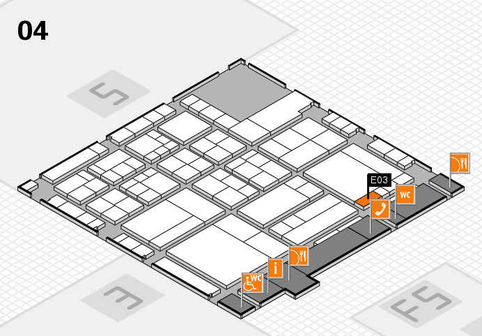 interpack 2017 Hallenplan (Halle 4): Stand E03