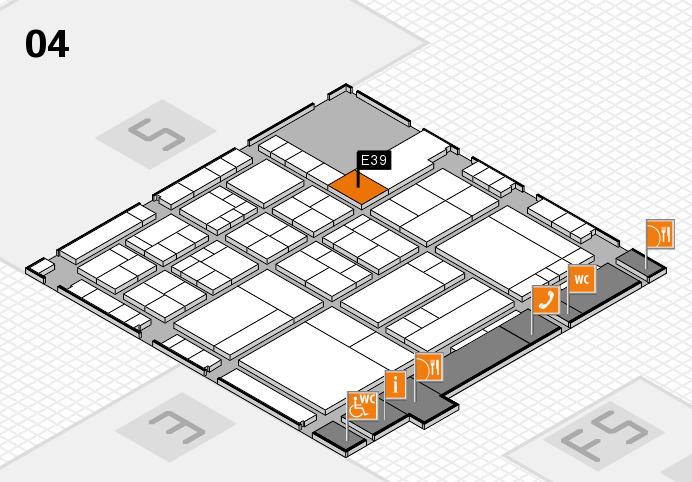 interpack 2017 Hallenplan (Halle 4): Stand E39