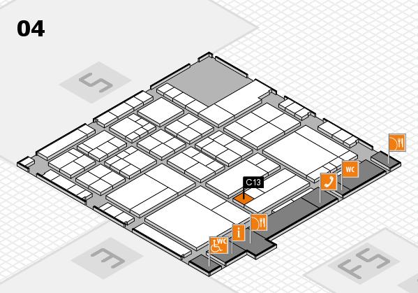 interpack 2017 Hallenplan (Halle 4): Stand C13