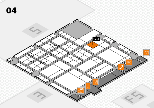 interpack 2017 hall map (Hall 4): stand G34