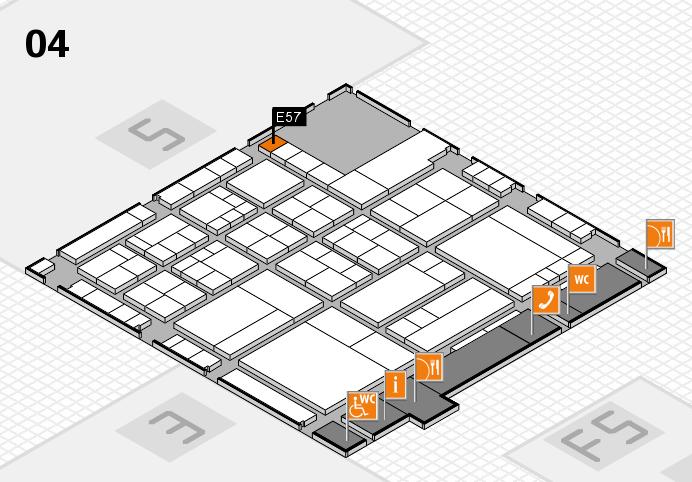 interpack 2017 Hallenplan (Halle 4): Stand E57