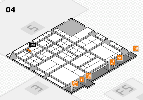 interpack 2017 hall map (Hall 4): stand B55
