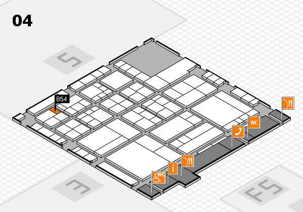 interpack 2017 hall map (Hall 4): stand B54