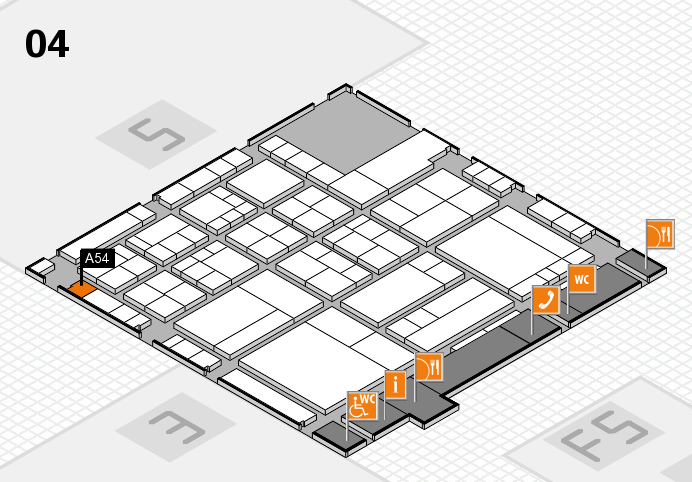 interpack 2017 hall map (Hall 4): stand A54