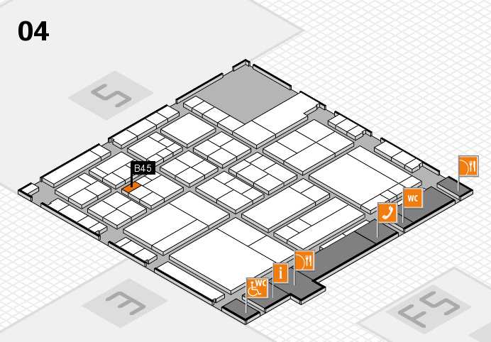 interpack 2017 hall map (Hall 4): stand B45