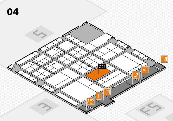 interpack 2017 hall map (Hall 4): stand C21
