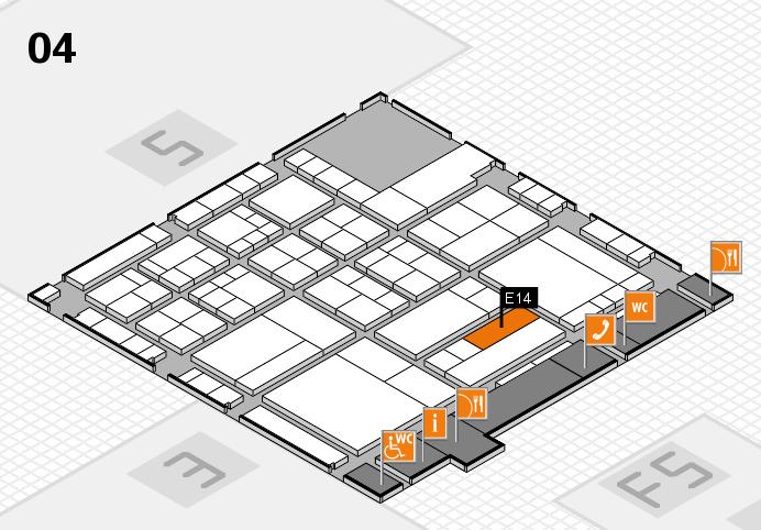 interpack 2017 Hallenplan (Halle 4): Stand E14