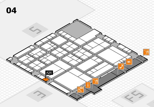 interpack 2017 Hallenplan (Halle 4): Stand A26