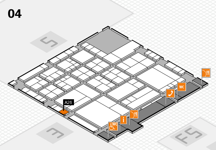 interpack 2017 hall map (Hall 4): stand A26