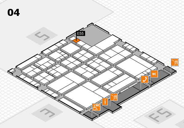 interpack 2017 hall map (Hall 4): stand E55