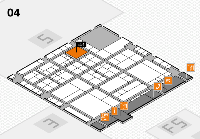 interpack 2017 hall map (Hall 4): stand E54