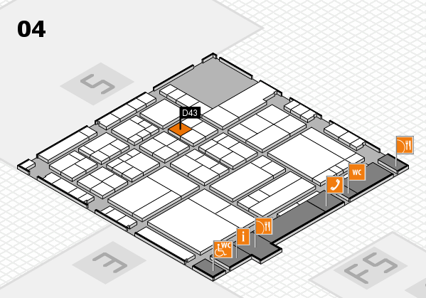 interpack 2017 hall map (Hall 4): stand D43