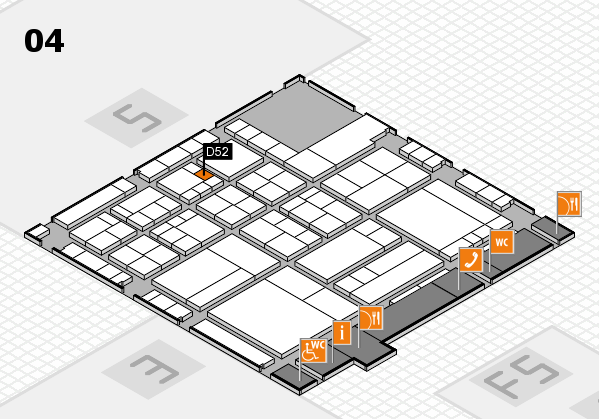 interpack 2017 hall map (Hall 4): stand D52