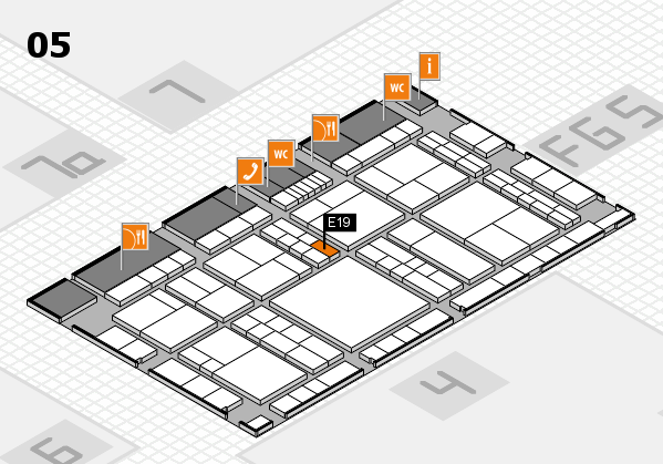 interpack 2017 hall map (Hall 5): stand E19