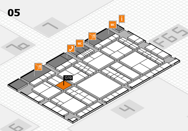 interpack 2017 hall map (Hall 5): stand G19