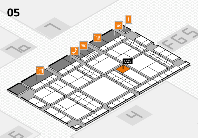 interpack 2017 hall map (Hall 5): stand C23