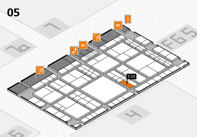 interpack 2017 Hallenplan (Halle 5): Stand E38