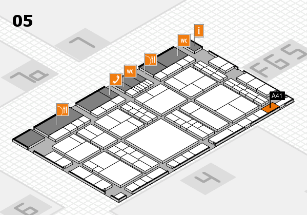 interpack 2017 hall map (Hall 5): stand A41