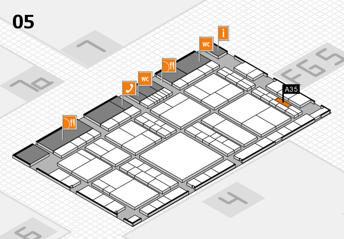 interpack 2017 hall map (Hall 5): stand A35