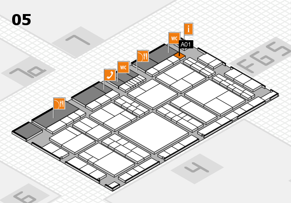 interpack 2017 hall map (Hall 5): stand A01