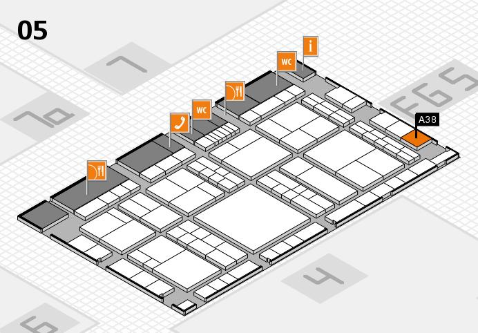 interpack 2017 Hallenplan (Halle 5): Stand A38