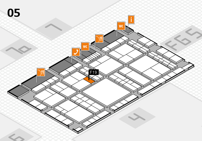 interpack 2017 hall map (Hall 5): stand F19