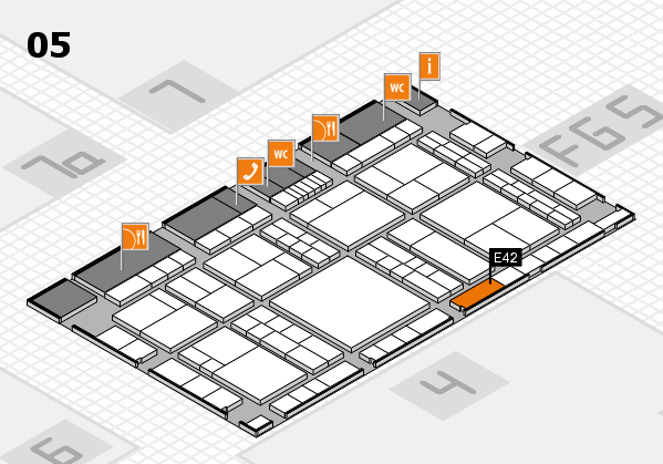 interpack 2017 hall map (Hall 5): stand E42