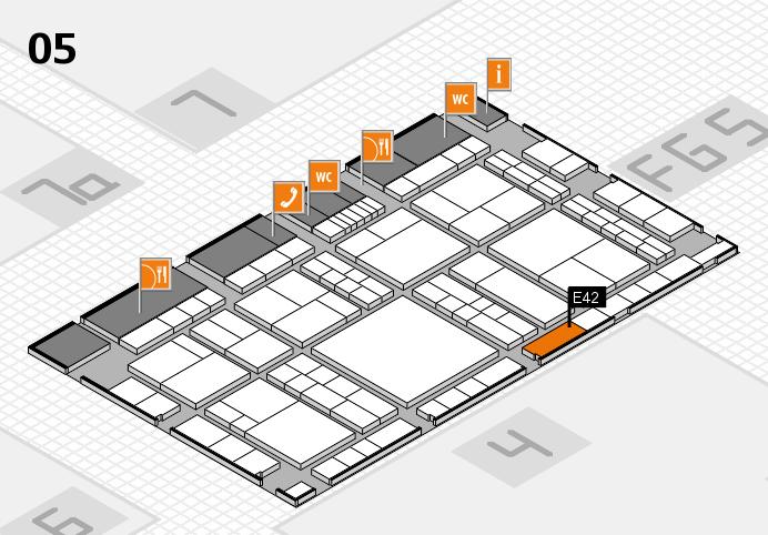 interpack 2017 Hallenplan (Halle 5): Stand E42