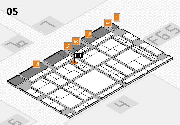 interpack 2017 hall map (Hall 5): stand F04