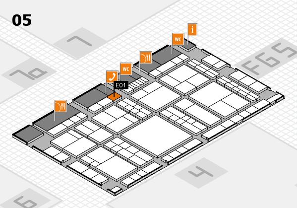 interpack 2017 Hallenplan (Halle 5): Stand E01