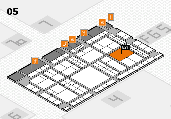 interpack 2017 hall map (Hall 5): stand B23