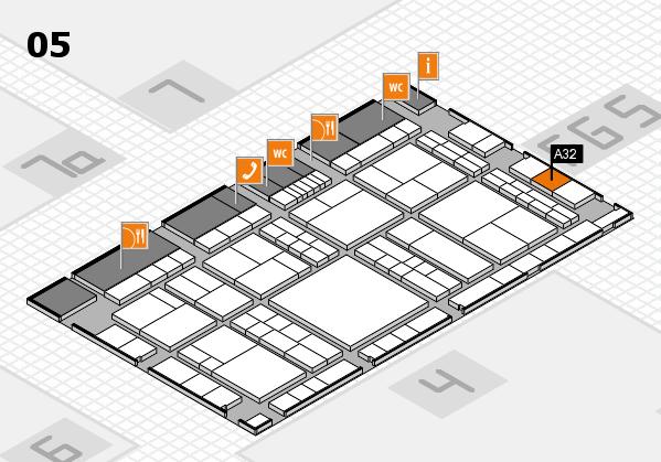 interpack 2017 Hallenplan (Halle 5): Stand A32