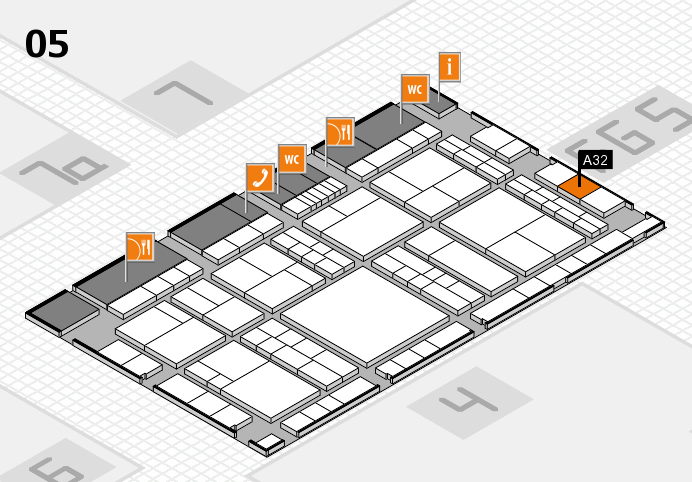 interpack 2017 hall map (Hall 5): stand A32