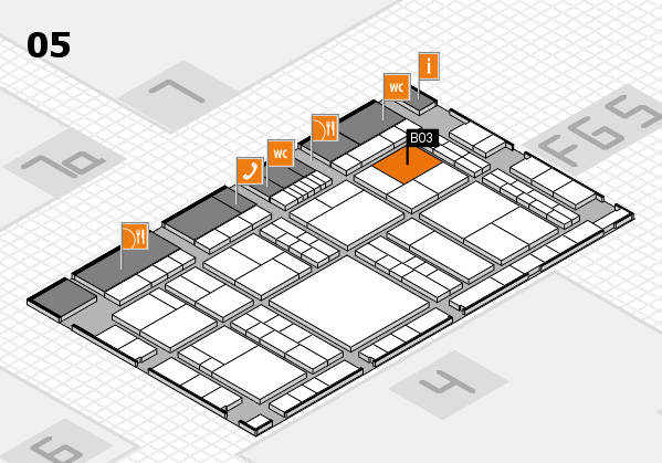 interpack 2017 hall map (Hall 5): stand B03