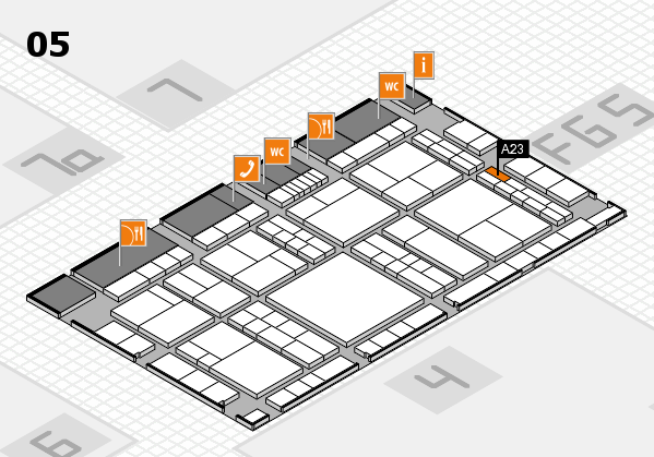 interpack 2017 hall map (Hall 5): stand A23
