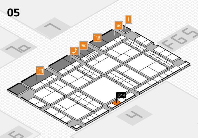 interpack 2017 Hallenplan (Halle 5): Stand G44